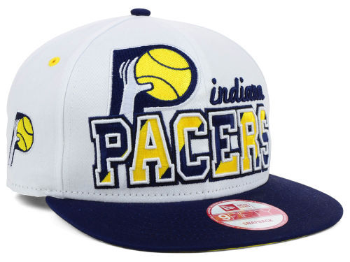 Indiana Pacers White Snapback Hat SD
